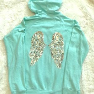 🌟VICTORIA'S SECRET Angel Sequin Wing Hoodie